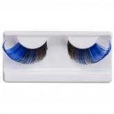 Подиумные накладные ресницы сине-черные Manly Pro Р37