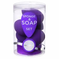 Набор бьюти спонжей плюс мыло для очистки спонжей Manly PRO СП20 5шт